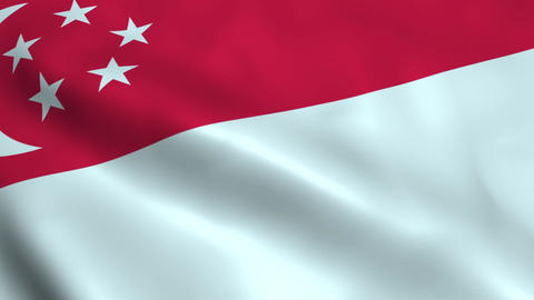 Realistic Singapore flag Animation
