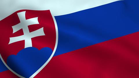 Realistic Slovakia flag Animation
