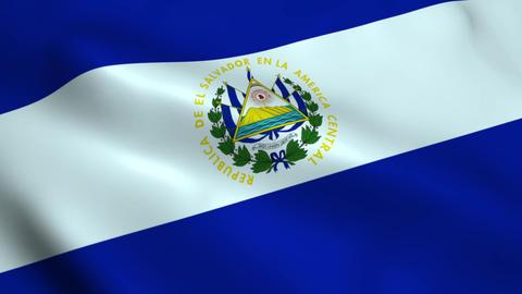 Realistic El Salvador flag Animation