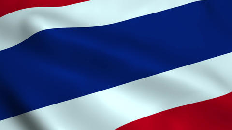 Realistic Thailand flag Animation
