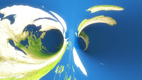 Abstract Earth Spiral Tunnel. Loopable Animation