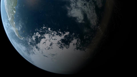 Orbiting over South Pole Animation