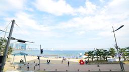 korea busan gwangalli Beach time lapse Archivo