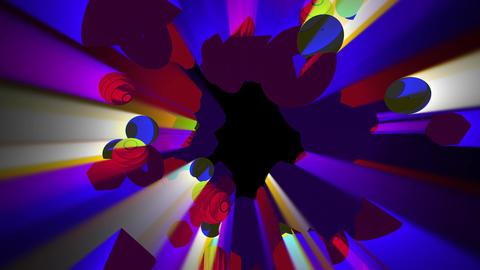 3D Cluster Motion VJ Animation