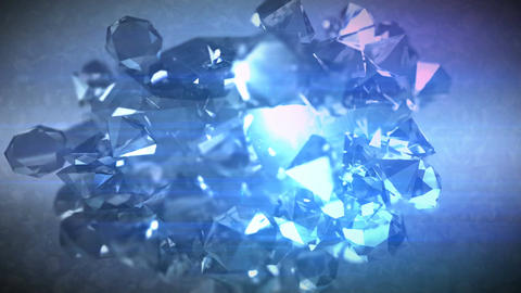 Polygonal diamonds spinning around CG動画素材