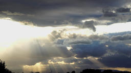 Deep cloudy sunset over the Vosges Filmmaterial