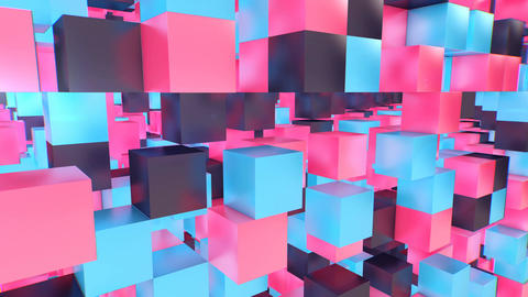 Multilayered 3d cube background Animation