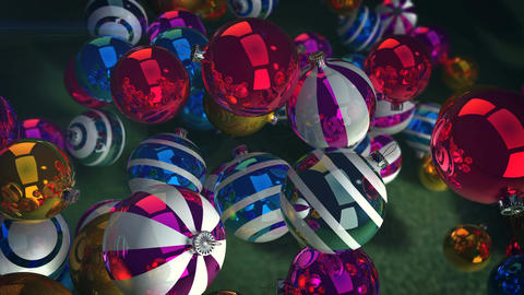 Happy New Year striped balls Animation
