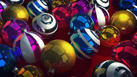 Happy New Year colorful balls Animation