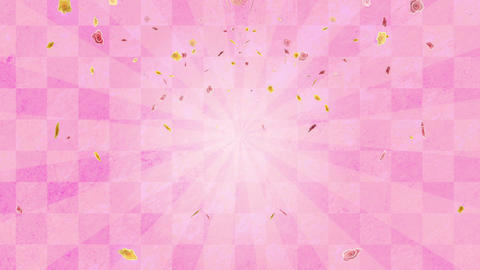 Radial petal background celebration CG Animation