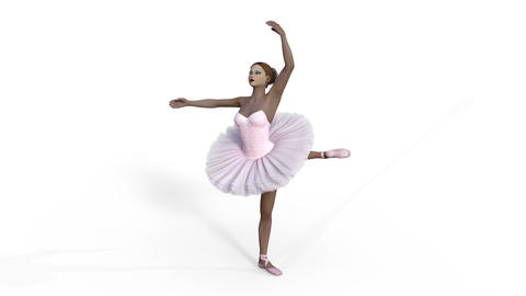 ballerina, animation,3d ,isolated Animation