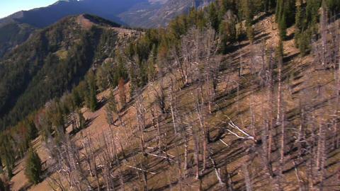 Barren mountain landscape Footage