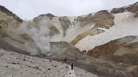 Journey to Kamchatka Peninsula. The surrounding area of Mutnovsky volcano Footage