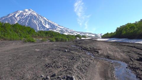 Journey to Kamchatka Peninsula. Valley of Koryaksky and Avachinsky volcanoes Footage