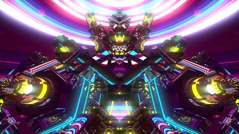 4k abstract kaleidoscope light pattern f Animation