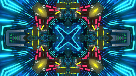 4k abstract kaleidoscope light pattern h CG動画素材