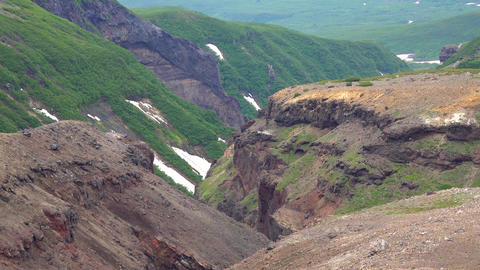 Canyon and waterfall Threat. Journey to Kamchatka Peninsula Live Action