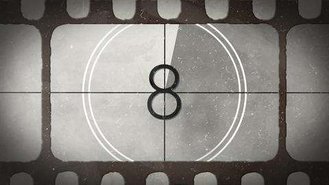 Retro Countdown Camera Roll 2 CG動画素材