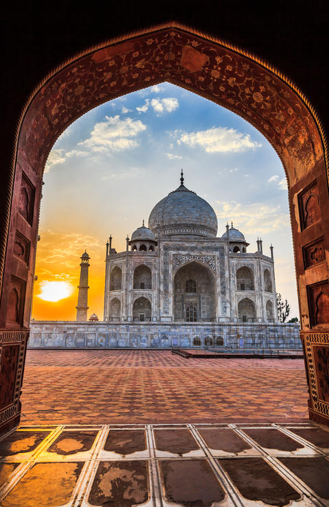 Sunrise at Taj Mahal Fotografía