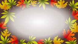 Autumn animation with rotating leafs and empty center Animation