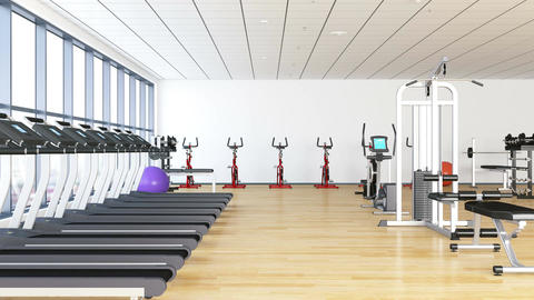Gym interior Filmmaterial