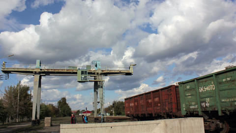 Railway crane Original Loop Filmmaterial
