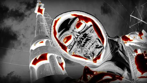 Skull Mask Dark Loop Filmmaterial