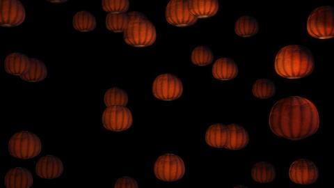 Scary Pumpkin Face Halloween Background loop glow 4k Stock Video Footage
