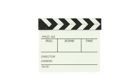 Clapper board on green screen background Footage