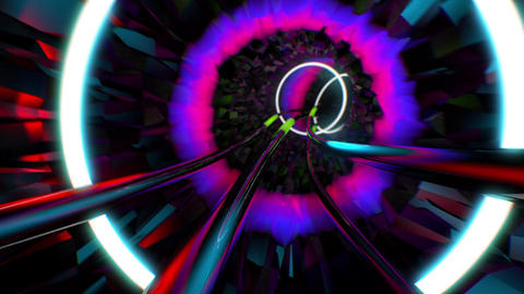 VJ Tunnel CG動画素材
