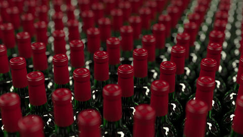 Multiple wine bottle tops, loopable motion background Footage