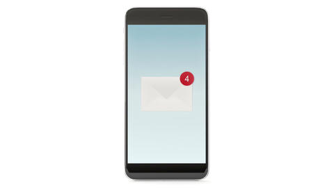 Smart phone with message on a screen Live Action