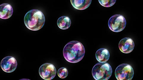 Soap Bubbles 4k - Colorful Fun Video Background Loop Animation
