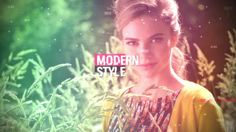 Stylish Glitch Slideshow Premiere Pro Template