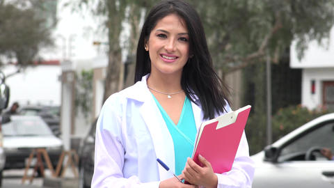 Happy Female Doctor Or Nurse Live-Action