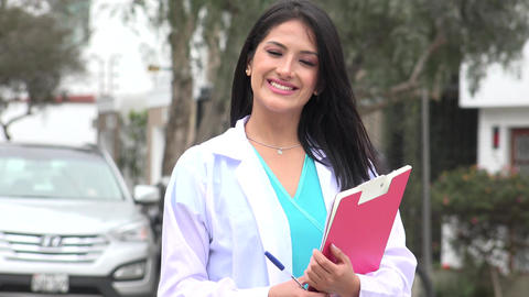 Happy Female Nurse Or Doctor Live-Action