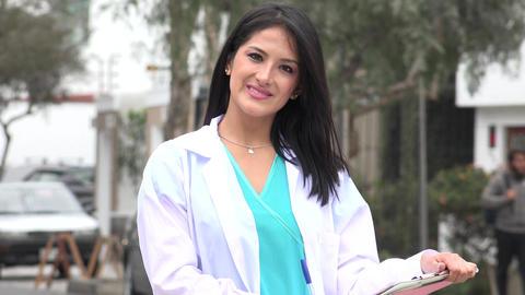 Hispanic Female Nurse Or Doctor Live-Action