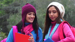 Friends College Students Cold Weather Live Action