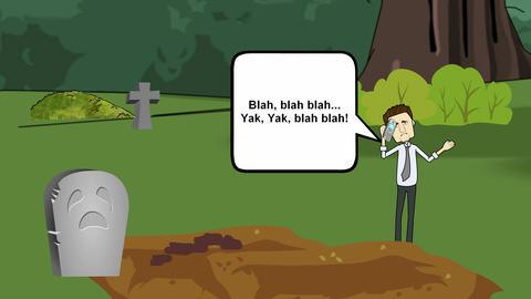 """Silence your Cell Phone"", Cemetery Animation CG動画"