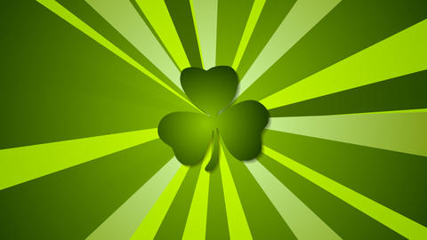 St. Patricks Day green beams abstract video animation 動畫