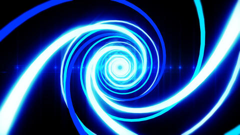 abstract tunnel blue light flare loop able Animation
