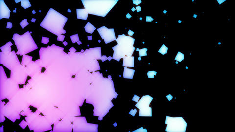 abstract cube particle background CG動画素材