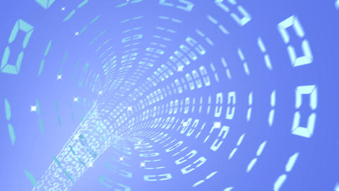 digital data tunnel background loop able Animation