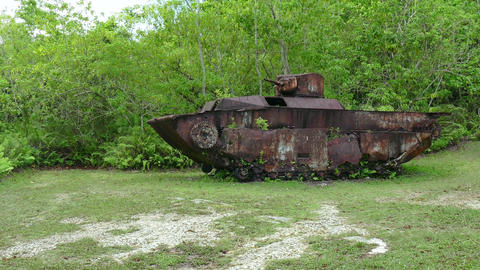 American Armored Vehicle Military Tank Peleliu Battle World War II Footage