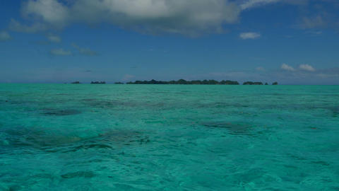 Marine Landscape Natural Beauty Nature Sea Ocean Waters Palau Islands stock footage