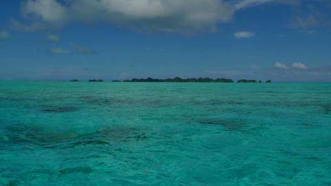 Marine Landscape Natural Beauty Nature Sea Ocean Waters Palau Islands Footage