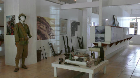 Museum History Memorial Military Monument Peleliu Battle Second World War stock footage