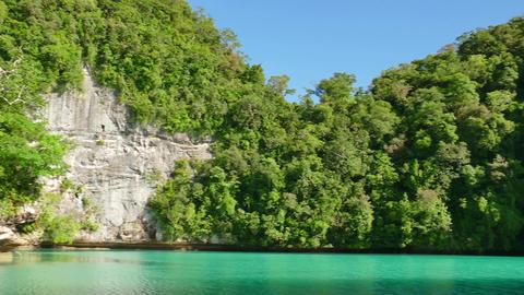Tropical Sea Nature Natural Landscape Beautiful Blue Lagoon Palau Micronesia Footage