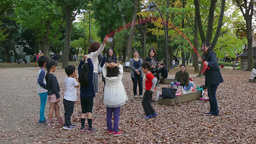 Children Kids Friends Family Fun Japanese People Playing In Park Footage