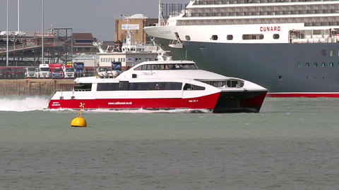 Red Jet Hi-Speed Ferry Footage